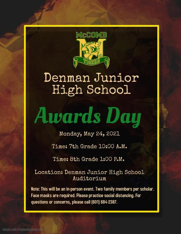Denman Junior High School Awards Day 2021