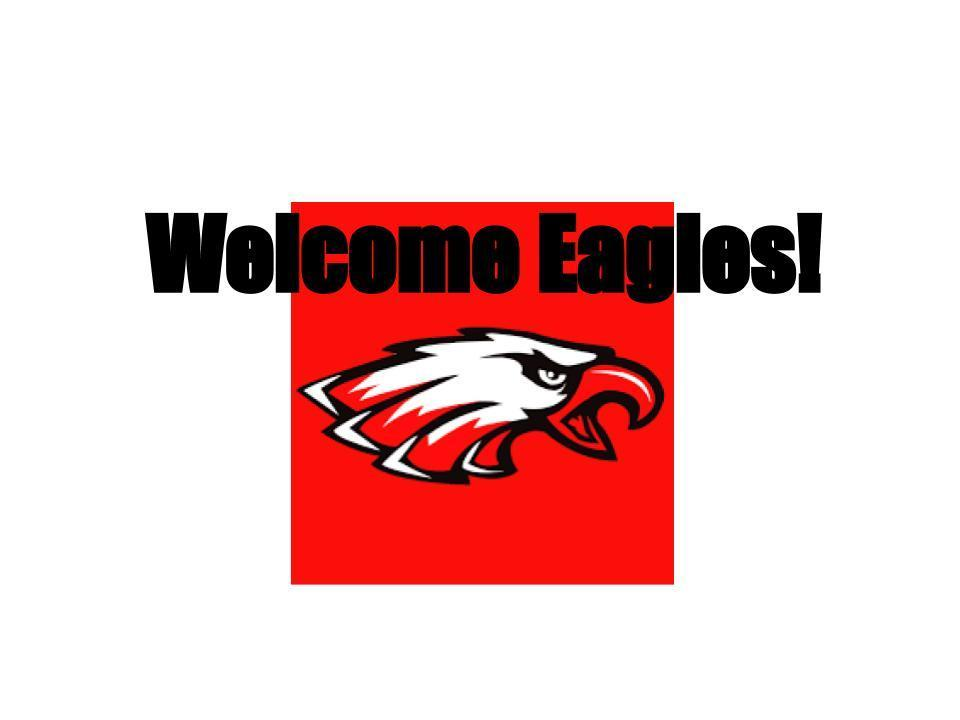 Picture of Eagles logo with Welcome Eagles as the text