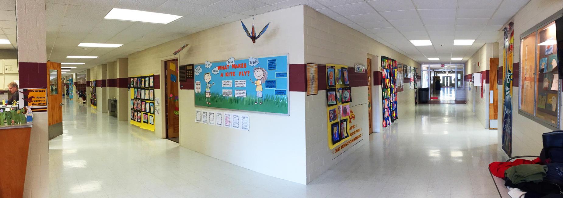 Monroe elementary hallway