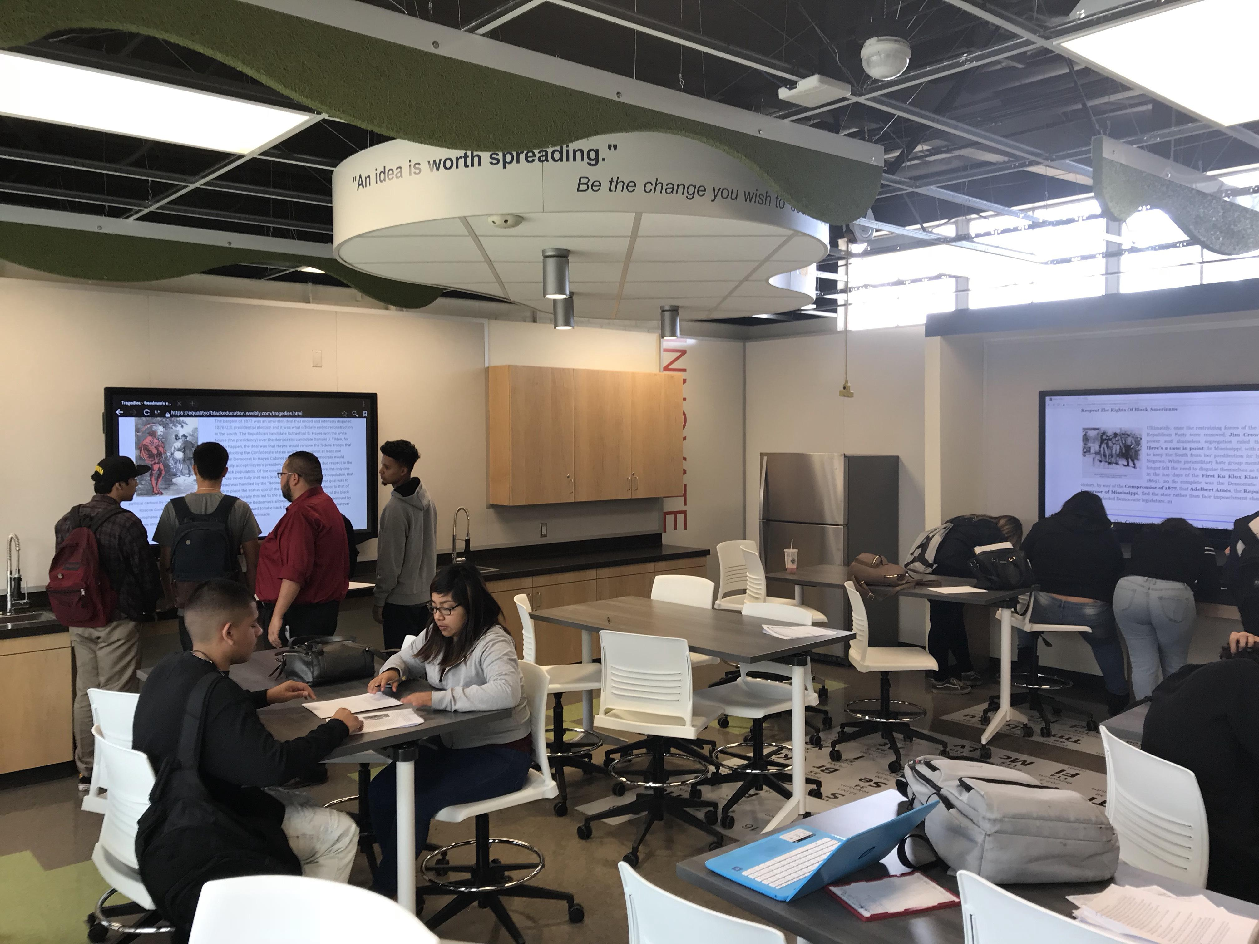 Salazar students enjoy learning in the new Science/Innovation Lab.