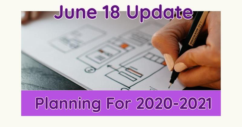 June 18 Update For 2020-2021