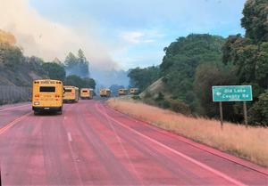 UUSD Bus Drivers Evacuate Lake County Inmates