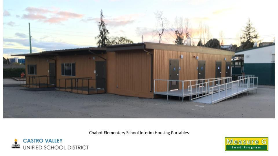 Chabot Elementary School Interim Housing Portables