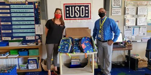 USO donates Backpacks