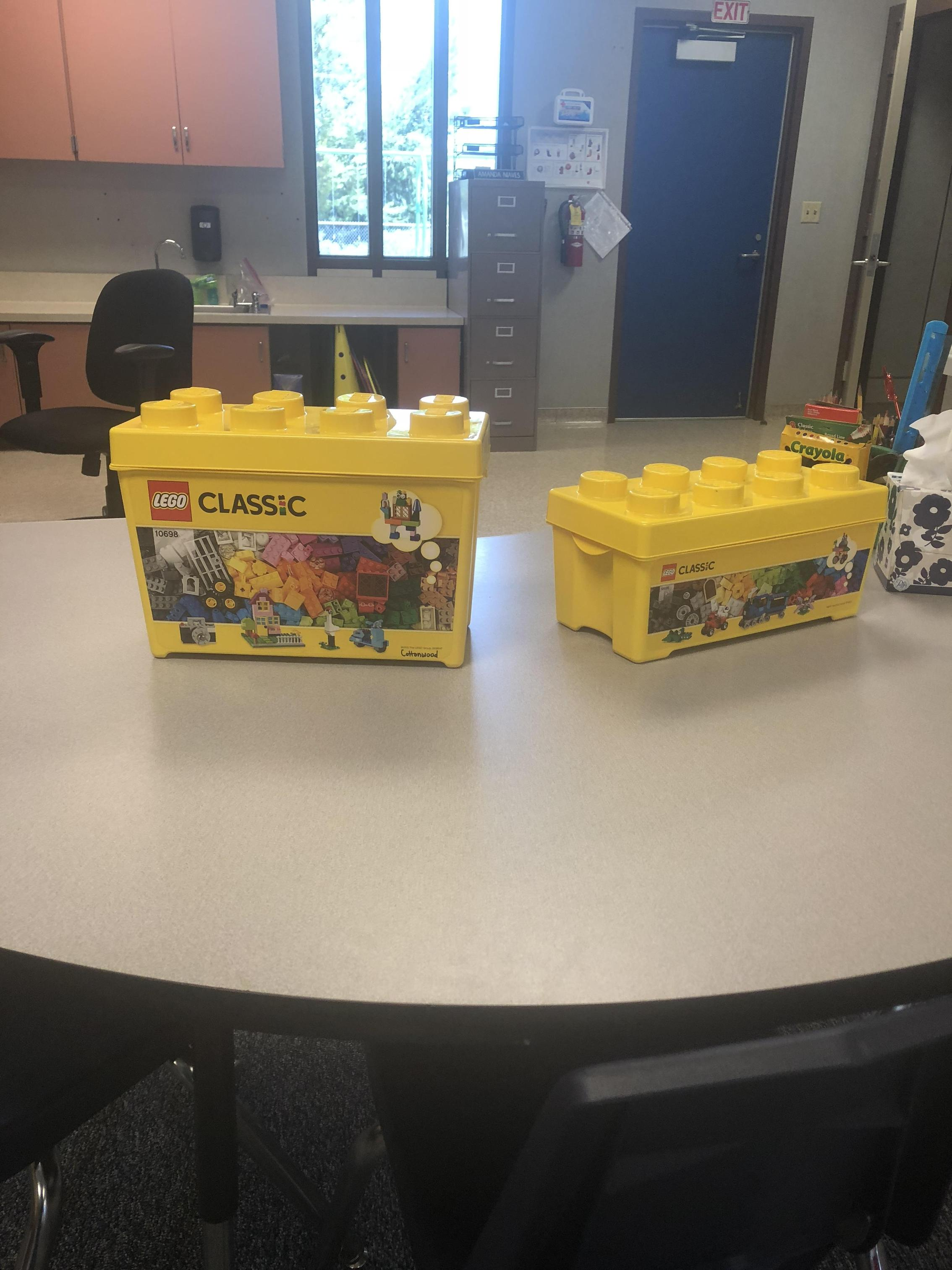 Legos are available for student usage.