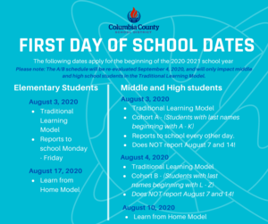 first day of school infographic