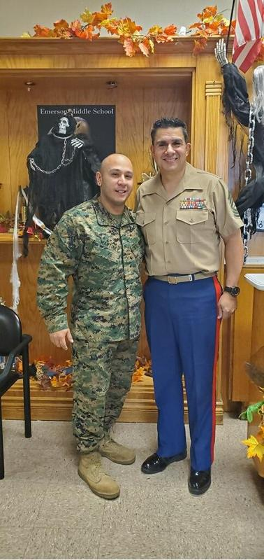 Marines Rene Martinez and Felix De Garcia