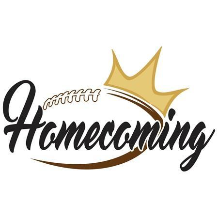 Homecoming stock image.  Football with a crown.
