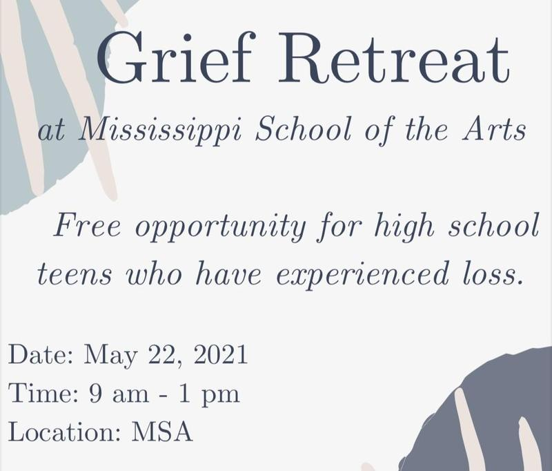 Grief Retreat at Mississippi School of the Arts (MSA) Thumbnail Image