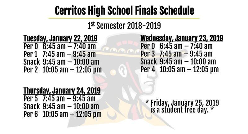 1st Semester Finals Schedule Featured Photo