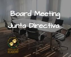 Board Meeting 10.18.21🐾 Featured Photo