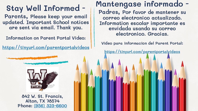 Stay Well Informed/Mantengase informado