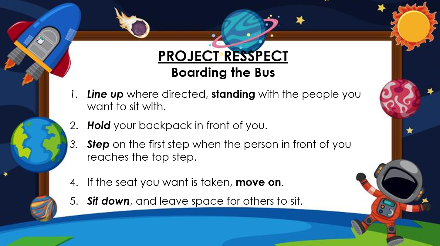 Project RESSPECT Boarding the Bus