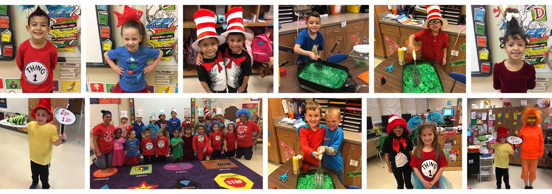 elementary students celebrate dr. seuss day
