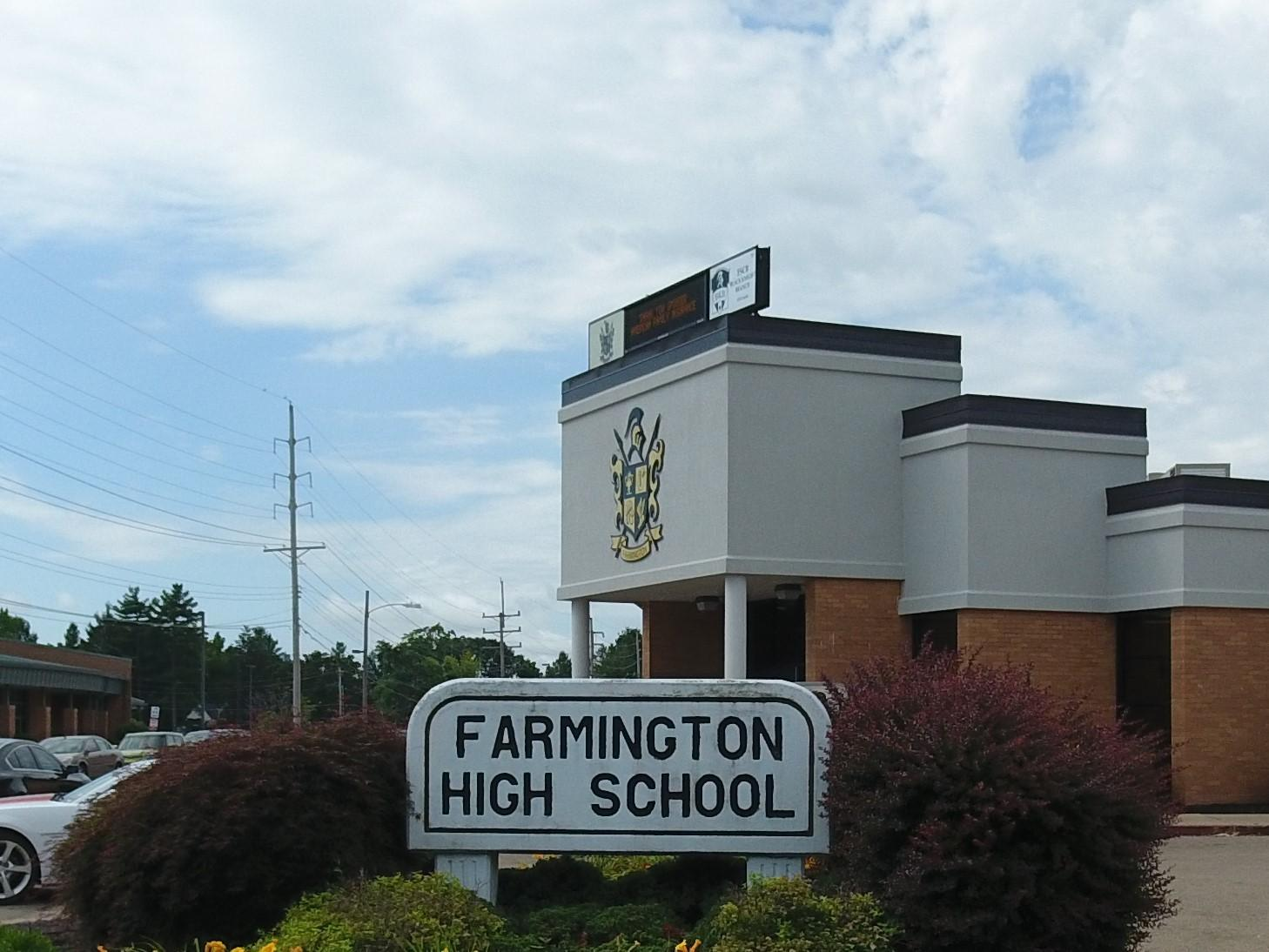 Farmington High School Main Entrance
