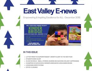 Cover of December electronic newsletter.