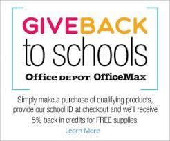 Office Depot Give Back to Schools