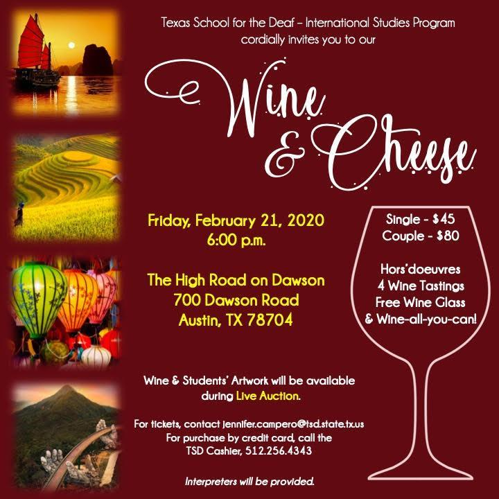 Wine and Cheese Fundraising!