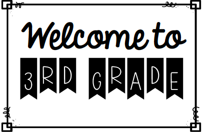 Welcome to 3rd Grade Image