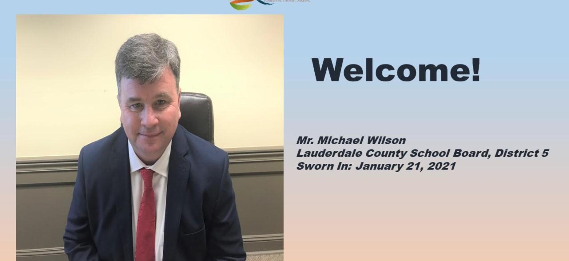 New LCSD School Board Member Michael Wilson