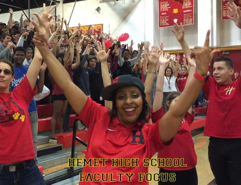 Nyesha Williams singing in the lip sync video for Hemet High