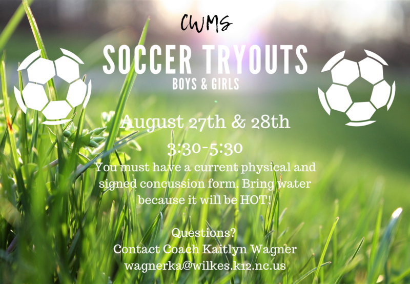 CWMS Soccer Tryouts Thumbnail Image