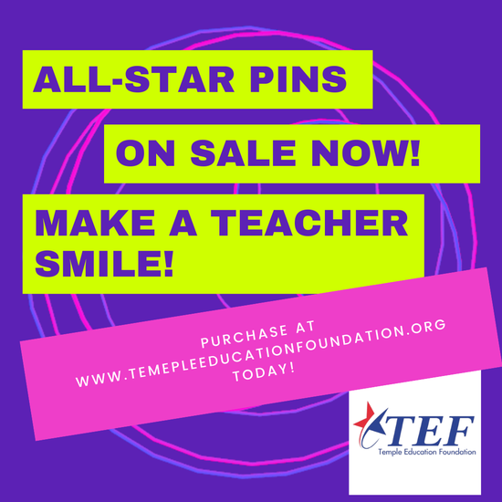 ALL STAR PINS Honor a Temple ISD Employee for their Outstanding Service! Featured Photo