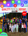 Quality Profile Report Cover with photo of students on the playground
