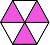 A shape showing the fraction three-sixth