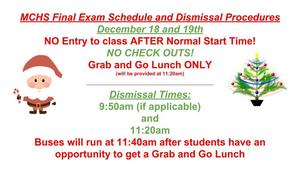 1st Semester Exam Schedule