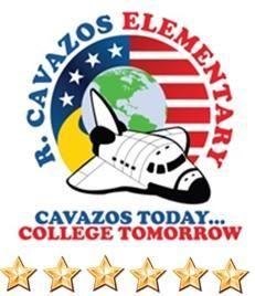 Cavazos logo with six stars underneath