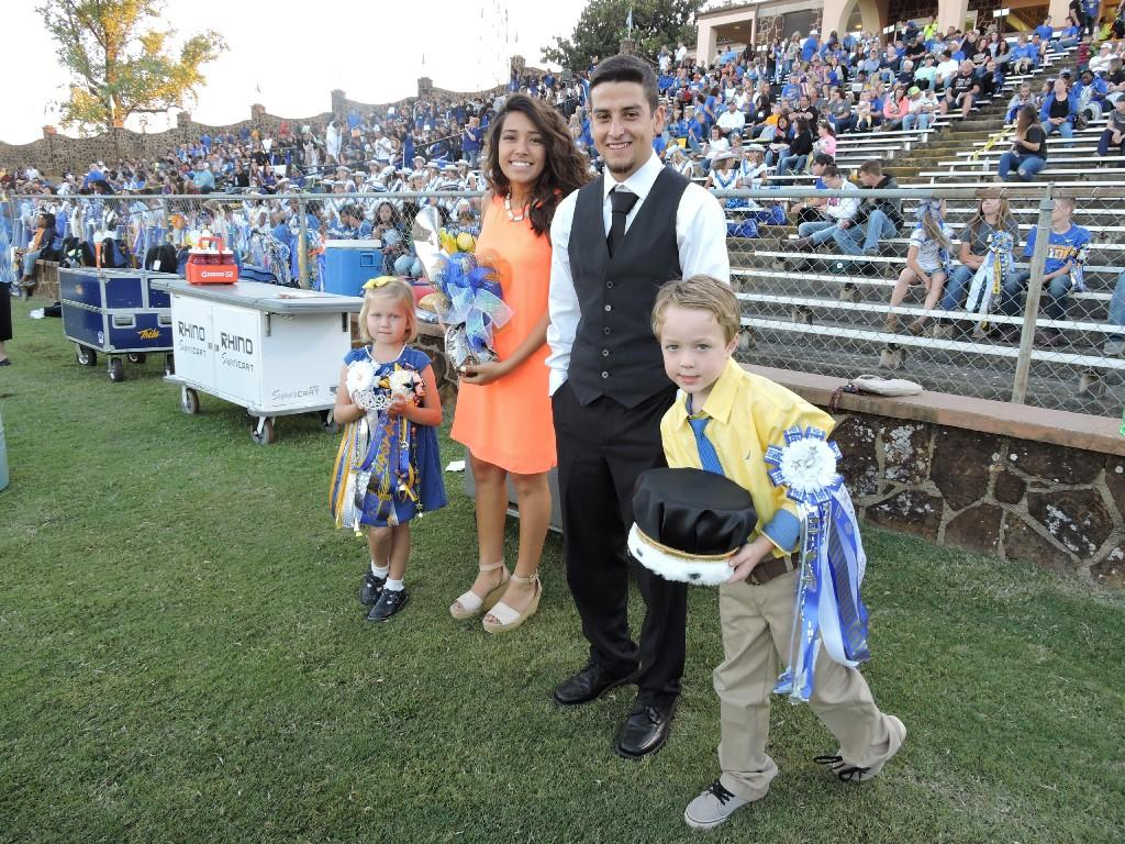 crown bearers at homecoming