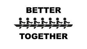 better together logo - rowers