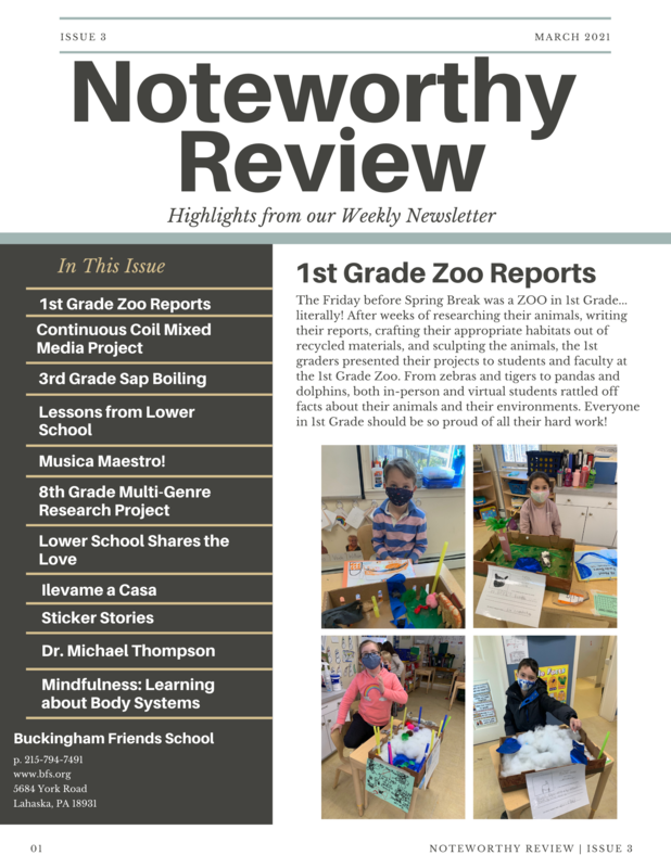 March 2021 Noteworthy Review