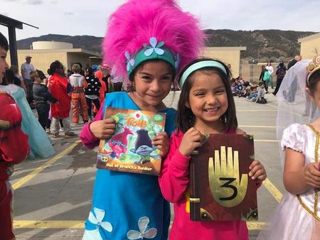 Students Showing off their costumes at the parade