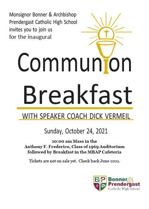 Communion Breakfast Fall 2021
