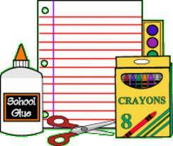 Icon of school supplies.