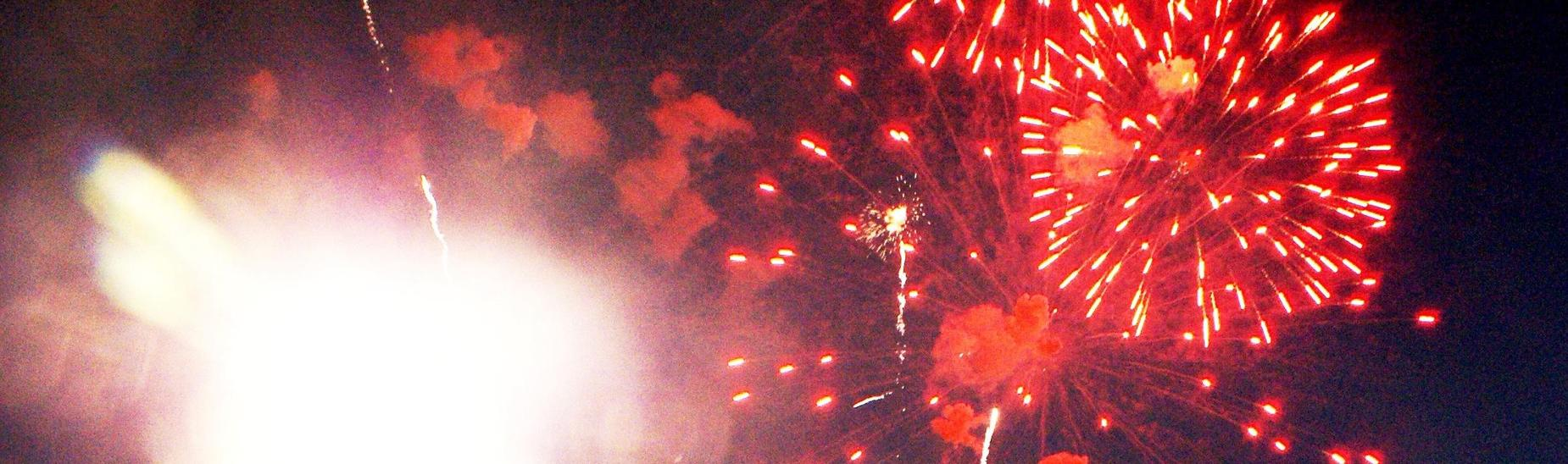 Fireworks at the Football Field