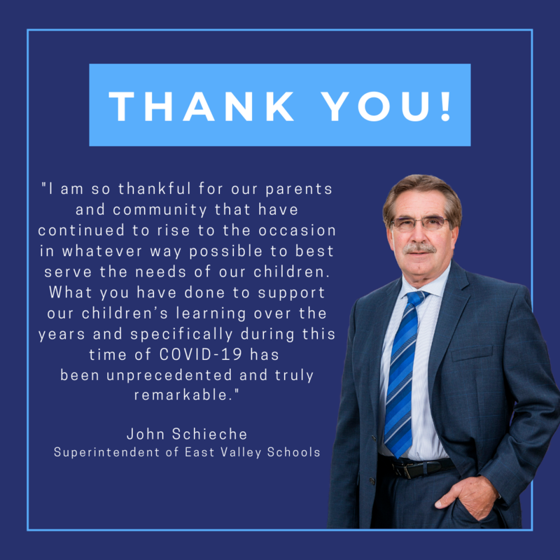 Thank you to our parents for the last year from John Schieche