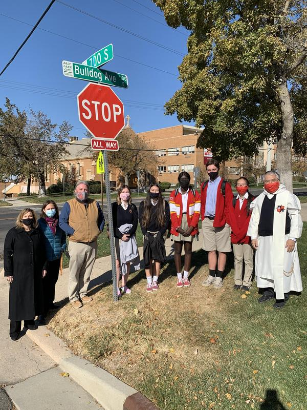 Bulldog Avenue Street Signs Blessed Featured Photo
