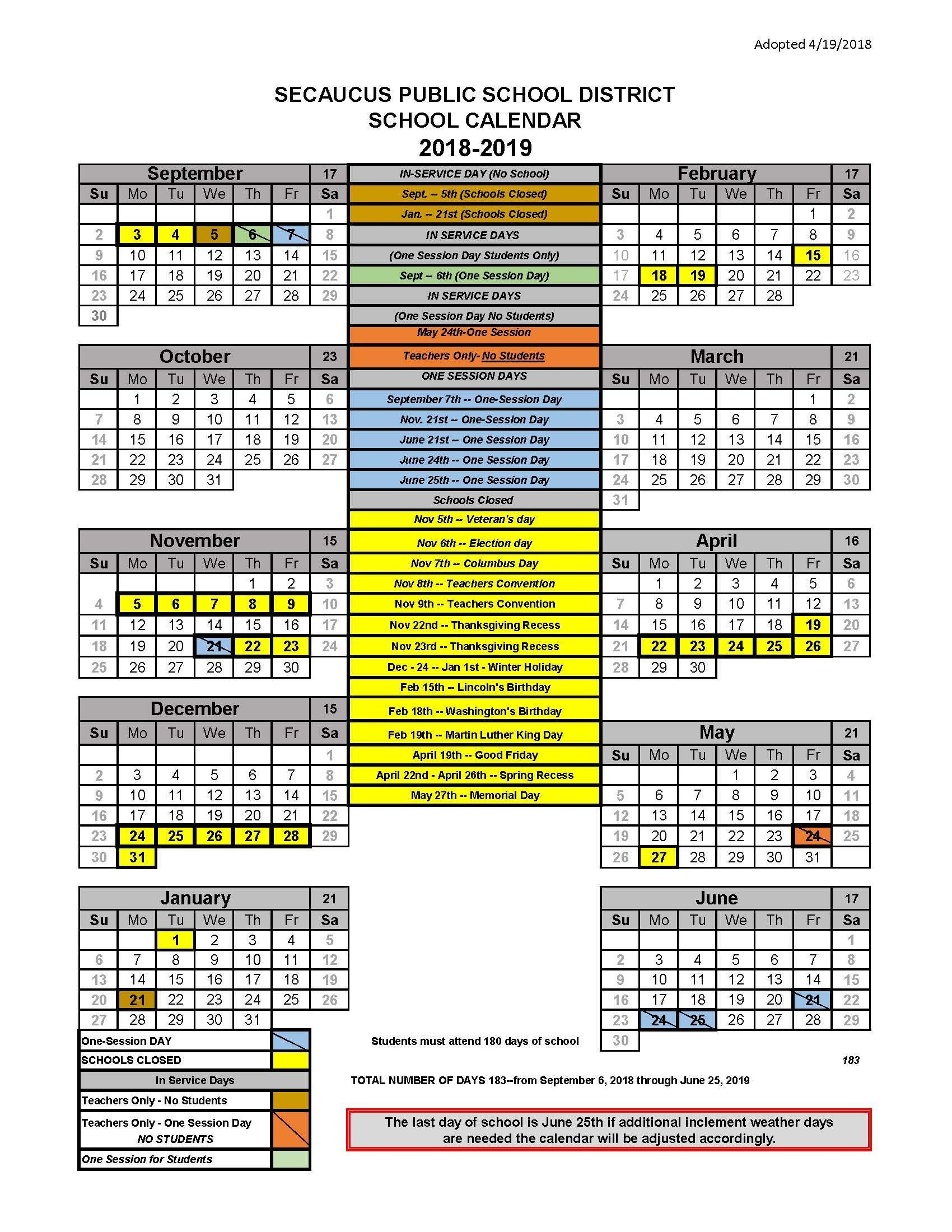 Print Bell Schedules / School Year Calendar – I Want To