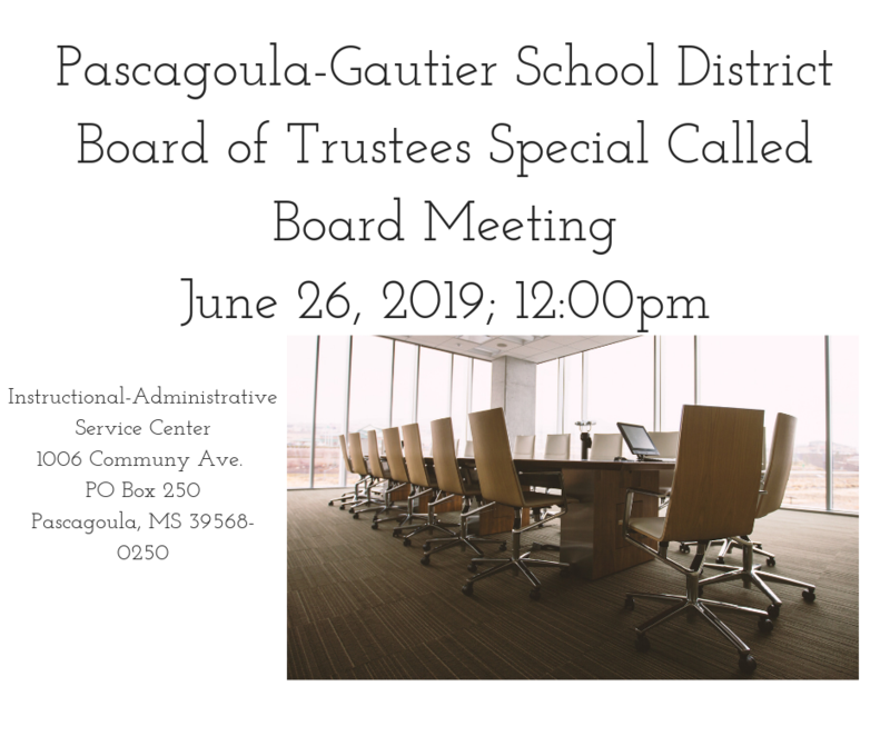 PGSD Special Called Board Meeting