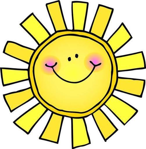 smiling yellow sun cartoon