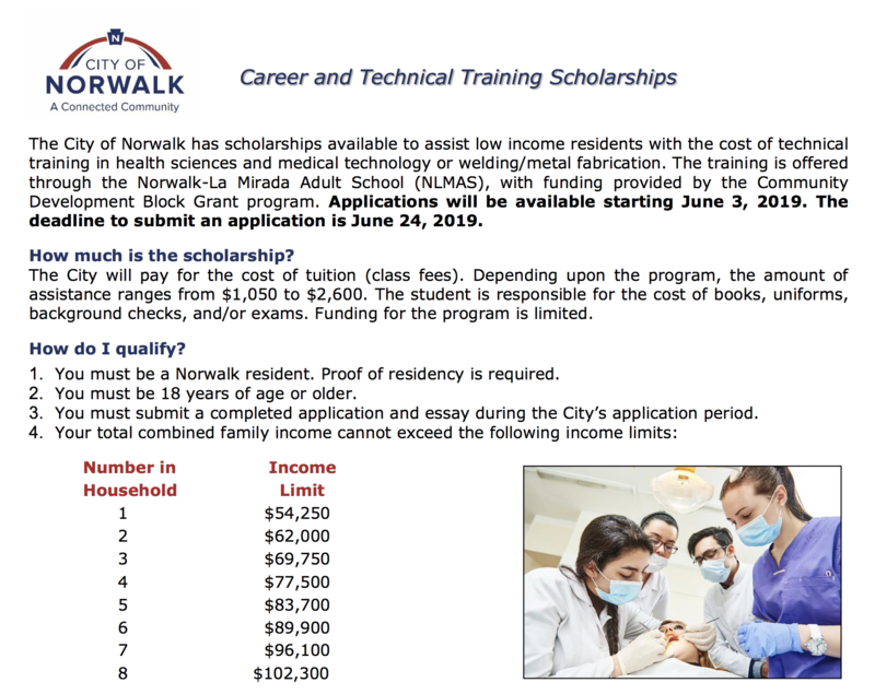 Career & Technical Training Scholarships! Featured Photo
