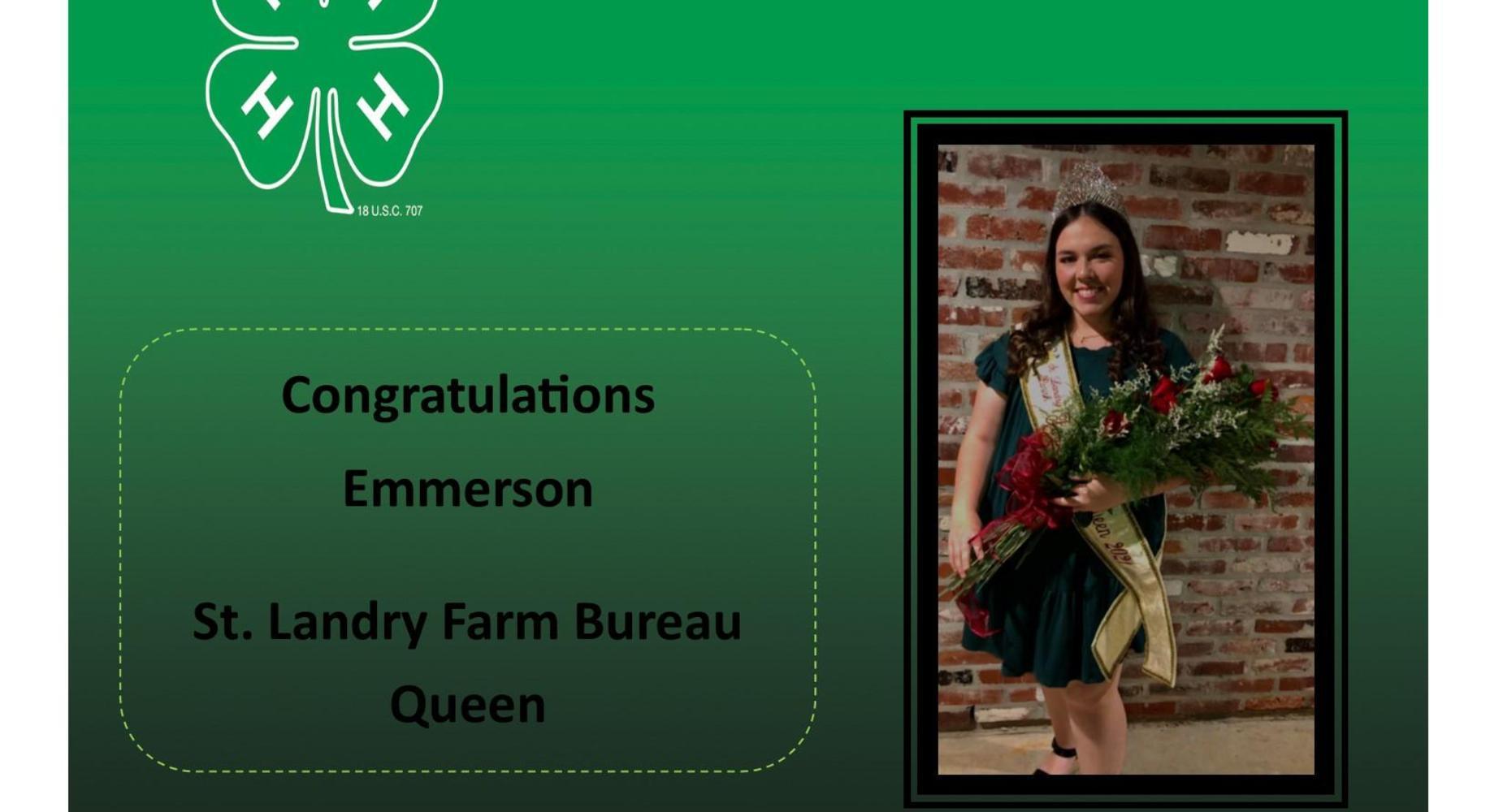 Emmerson Lyons - St. Landry Farm Bureau Queen  2020-2021