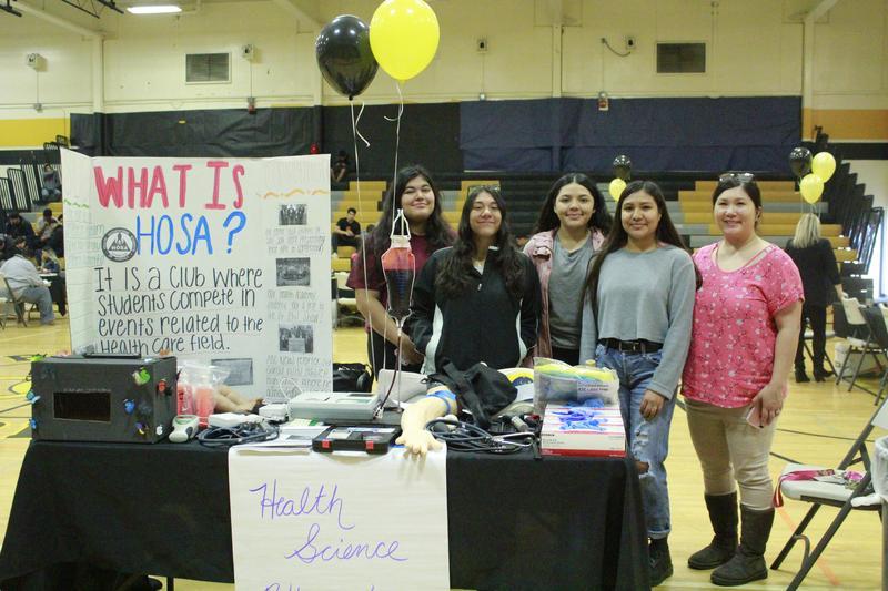 Bassett High School HOSA Club Students present at Bassett High School Pathways Showcase