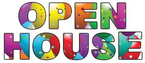 Image saying open house