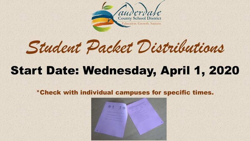 Student Packet Distributions Flyer