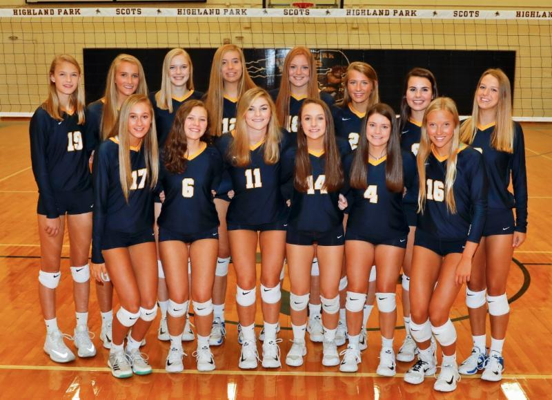 Lady Scots volleyball team
