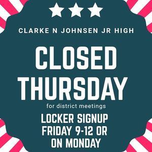 School closed Thursday
